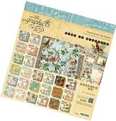 """GRAPHIC 45 """"TIME TO FLOURISH"""" 8X8 PAPER PAD 24 SHEETS FLORAL"""