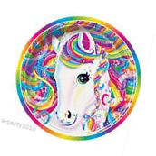LISA FRANK LARGE PAPER PLATES  ~ Rainbow Birthday Party