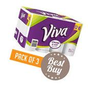Paper Towels 12 Rolls VIVA Choose-A-Sheet White Big Soft