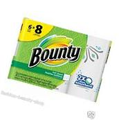 Bounty Paper Towels Prints, Big Roll Household Cleaning