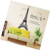 Large Paris Eiffel Tower Wall Sticker Art Vinyl Decal Mural
