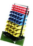 Parts Organizer Rack Bins 90 Seperate Storage Buckets Shop