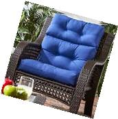 Patio Chair Cushion Set Of 2 Wicker Furniture Outdoor High