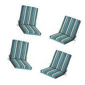 Patio Cushion Set Garden Outdoor Dining Chair Furniture