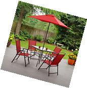 Patio 6 Piece Dining Set Outdoor Furniture Folding Table