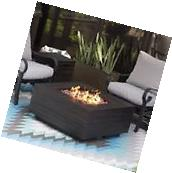 Patio Fire Pit Table Outdoor Gas Modern Fireplace Propane