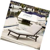 Outdoor Patio Furniture Adjustable Wicker Chaise Lounge