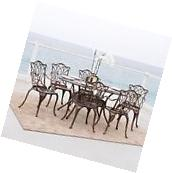 Outdoor Patio Furniture Antique Copper Cast Aluminum Dining