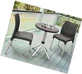 Patio Furniture Dining Set 7 Piece Outdoor Table And 6 Sling