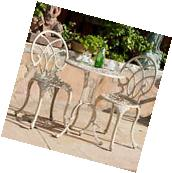 Outdoor Patio Furniture  3pc Elegant Design Sand Finish Cast