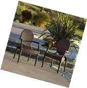 Set of 2 Outdoor Patio Furniture Elegant Design All-weather