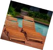 2 Pack Outdoor Patio Furniture Wood Chaise Lounge Folding