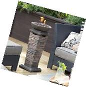Propane Fire Pit Patio Gas Heater Column Outdoor Portable