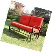 Patio Love Seat Bench Rocking Glider 2 Person Lounge Swing