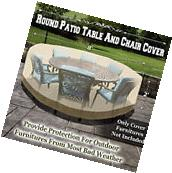 Premium Patio Round Table/Chair Set Cover Furniture Protect