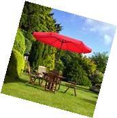 10ft Aluminum Outdoor Patio Umbrella Sunshade Market Garden