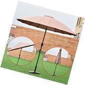 Outdoor 9ft Patio Umbrella Sunshade Cover Market Garden Cafe