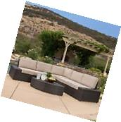 Outdoor Patio Furniture 6pcs Wicker Sectional Sofa Seating