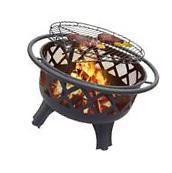 Patio Fire Pit Wood Burning Outdoor Backyard Fireplace Mesh