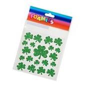 Darice 1056-74 St. Patrick's Day Foam Stickers - Shamrocks