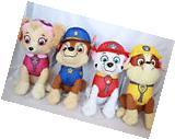 "Paw Patrol Plush 10"" Stuffed Toy Set 4 Chase Rubble Marshall"