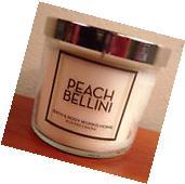 Bath & Body Works ~ PEACH BELLINI ~ 4 oz Scented Candle ~