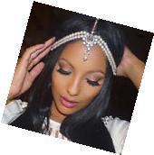 Pearl Kundan Head Chain Wedding Bride Bridal Grecian