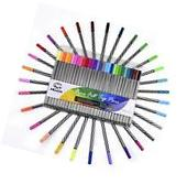 Colored Pen Art Set For Adult Coloring & Drawing,Marker Tipped Brush Pens 30 Pcs