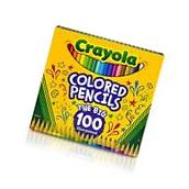 Crayola Colored Pencils 100 Count Vibrant Colors Pre-