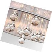 Top Pendant Light Crystal Chandelier Ceiling Lamp Fabric
