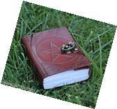 PENTAGRAM LEATHER JOURNAL HANDMADE BLANK BOOK OF SHADOWS W/