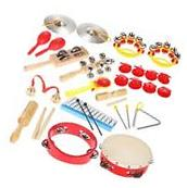 Percussion Set Musical Toys Instruments Band Rhythm Kit with