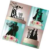 PERSONALIZED CUSTOM WEDDING CAKE TOPPER LASER CUT BLACK