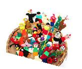 #499 25 Lot Peru Finger Puppets Assortment Animals, Insects,