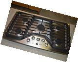 """GE PGP953SETS 36"""" Stainless Built-In Gas Cooktop w/5 Burners"""