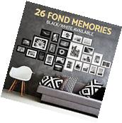 26PCS Photo Frame Set Picture Wall Mounted Art Home Décor