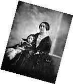 New 8x10 Photo: Young Queen Victoria with the Princess Royal