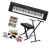 Yamaha Piaggero NP12 61-Key Portable Keyboard - Black HOME