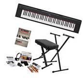 Yamaha Piaggero NP32 76-Key Portable Keyboard - Black HOME