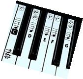 Piano key and Keyboard Music Note Stickers Learning Piano