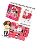 """69pc PINK Doll KITCHEN +Refrigerator Set for 18"""" American"""
