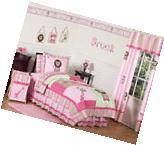 Jojo Pink Green Animal Twin Size Kid Bed Bedding Comforter