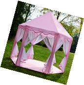 Girls Pink Princess Castle Childrens Play House Indoor /
