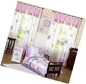 Pink and Purple Butterfly Collection Toddler Bedding 5 pc