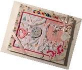 New 5-pc Pink Baby Variety Gift Layette Box Set Elegant Kids