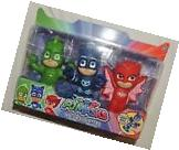 New PJ Masks 3 Pack Bath Toy Set Catboy Owlette Gekko Water
