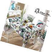 Plain Jane Home Decor Thick Cotton Linen Rectangular Table