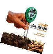 3 in1 Plant Flowers Soil PH Tester Moisture Light Meter by