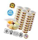 Paksh Novelty Plastic Containers for Lunch Small Food