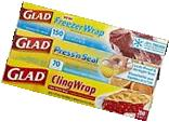 Glad Plastic Food Wrap Variety Pack, 3 Count, 420 Square